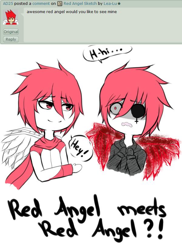 Картинки красный ангел из крипипасты