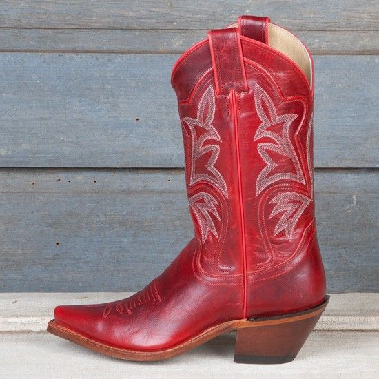 I ordered these Justin Ladies' Red Torino Western Boots last night ...