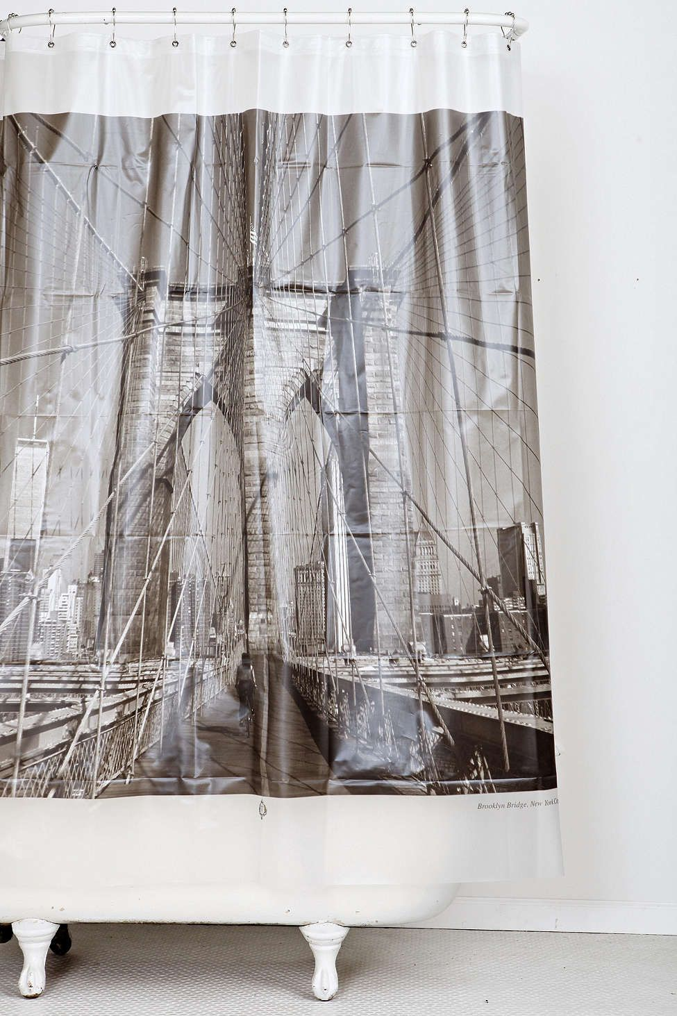 Izola Brooklyn Bridge Shower Curtain Urban Outers