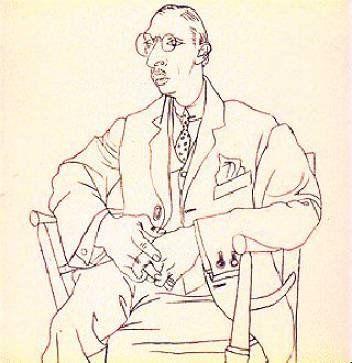 Portrait of Igor Stravinsky by Picasso, 1920