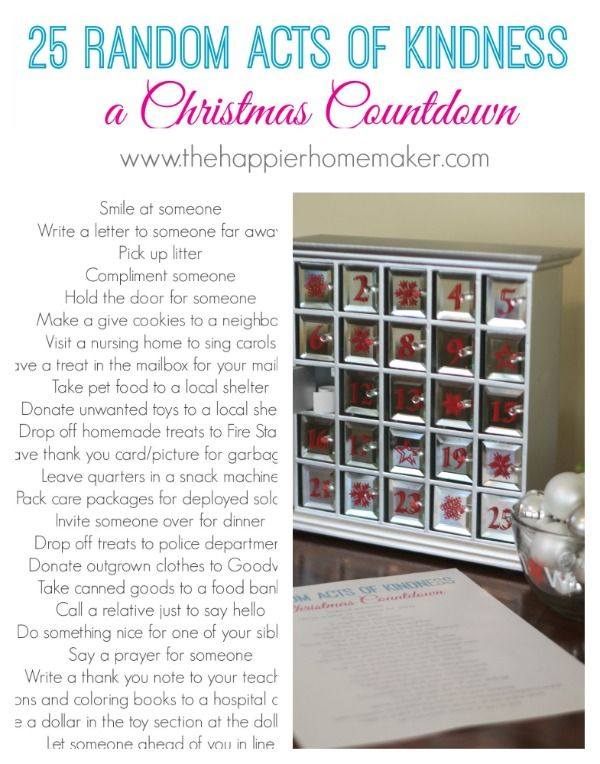 printable good deed christmas countdown such a nice idea   printable good deed christmas countdown such a nice idea better than a chocolate