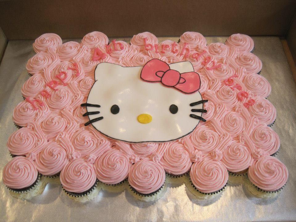 Hello Kitty Cupcake cake for Everlys 2nd birthday Hello Kitty
