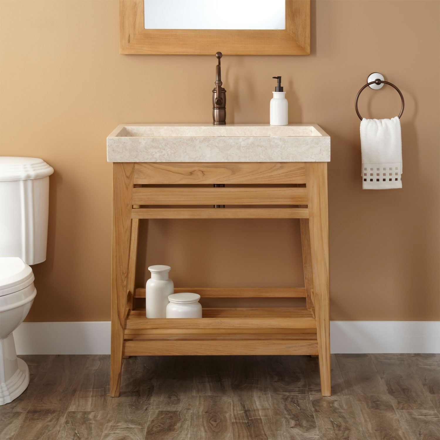 Bathroom Fixtures Adorable Furniture Vanity Sink Cabinets Rustic Wall Mounted Bathroom Sinks Untreated Teak Bathroom Open Bathroom Vanity Rustic Bathroom Sinks