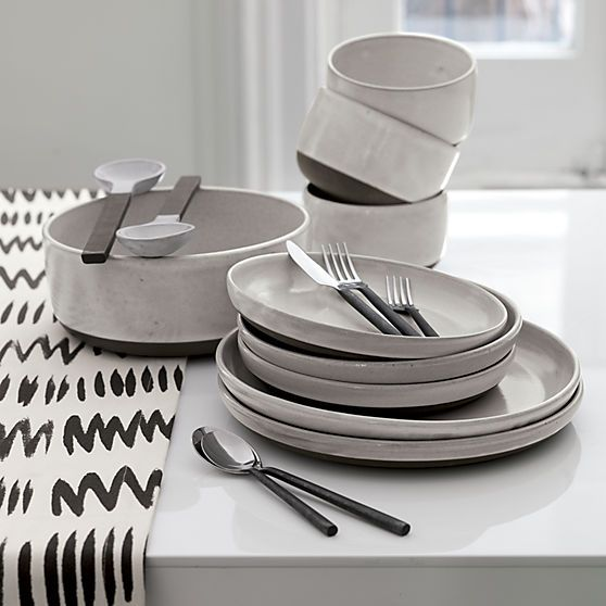 charley table runner in table linens   CB2 & Matthew Williamson for   Dinnerware Flatware and Salad plates