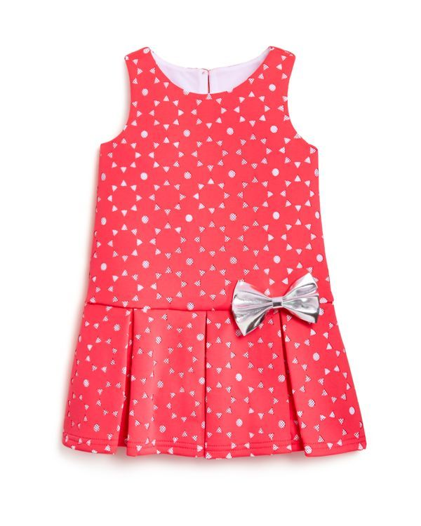 Pippa & Julie Girls' Laser Cut Pleated Dress - Sizes 2-6