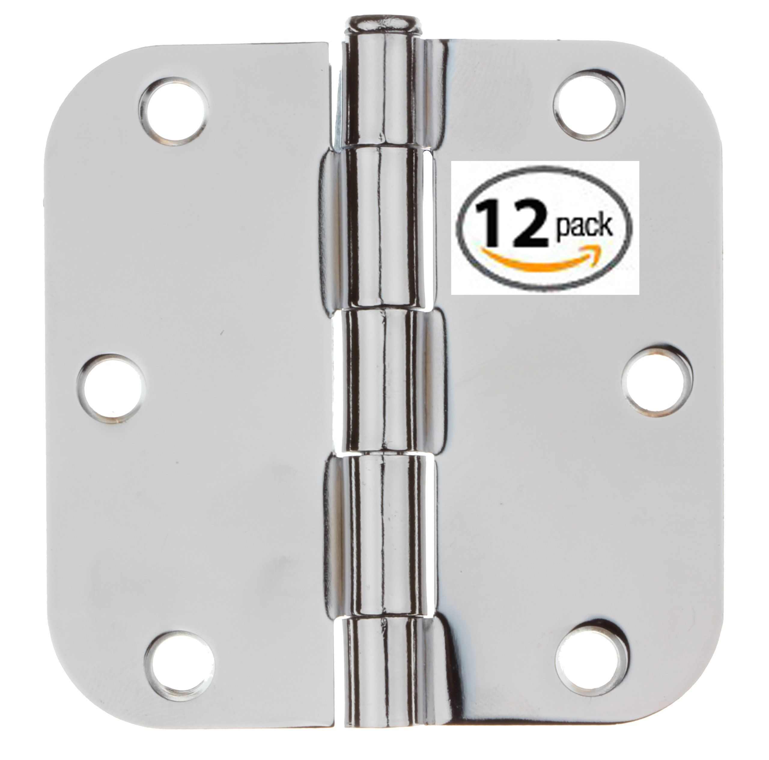 3558 Pc 12 Gliderite 3 1 2 Quot Polished Chrome Door Hinges 5 8 Quot Radius Corners Free Shipping Pack Of 12 Polished Chrome Door Hinges Chrome