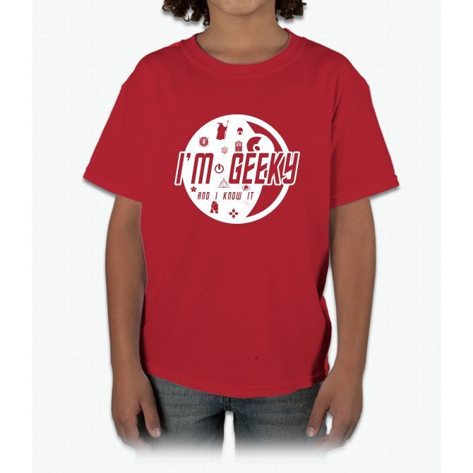 I'm Geeky And I Know It! Harry Potter Young T-Shirt