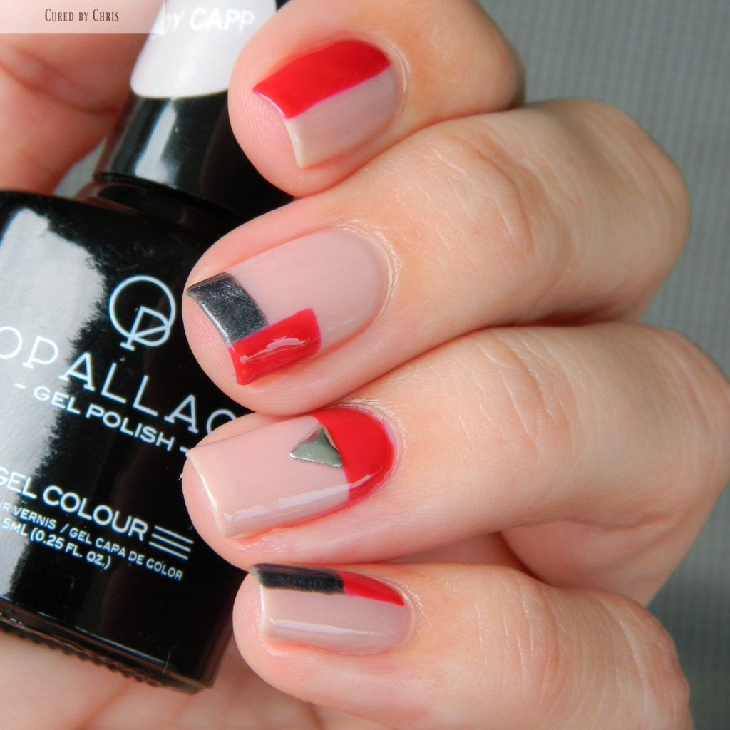 Gel Polish Colour Block Nail Art Jolis Ongles Bout Des Ongles