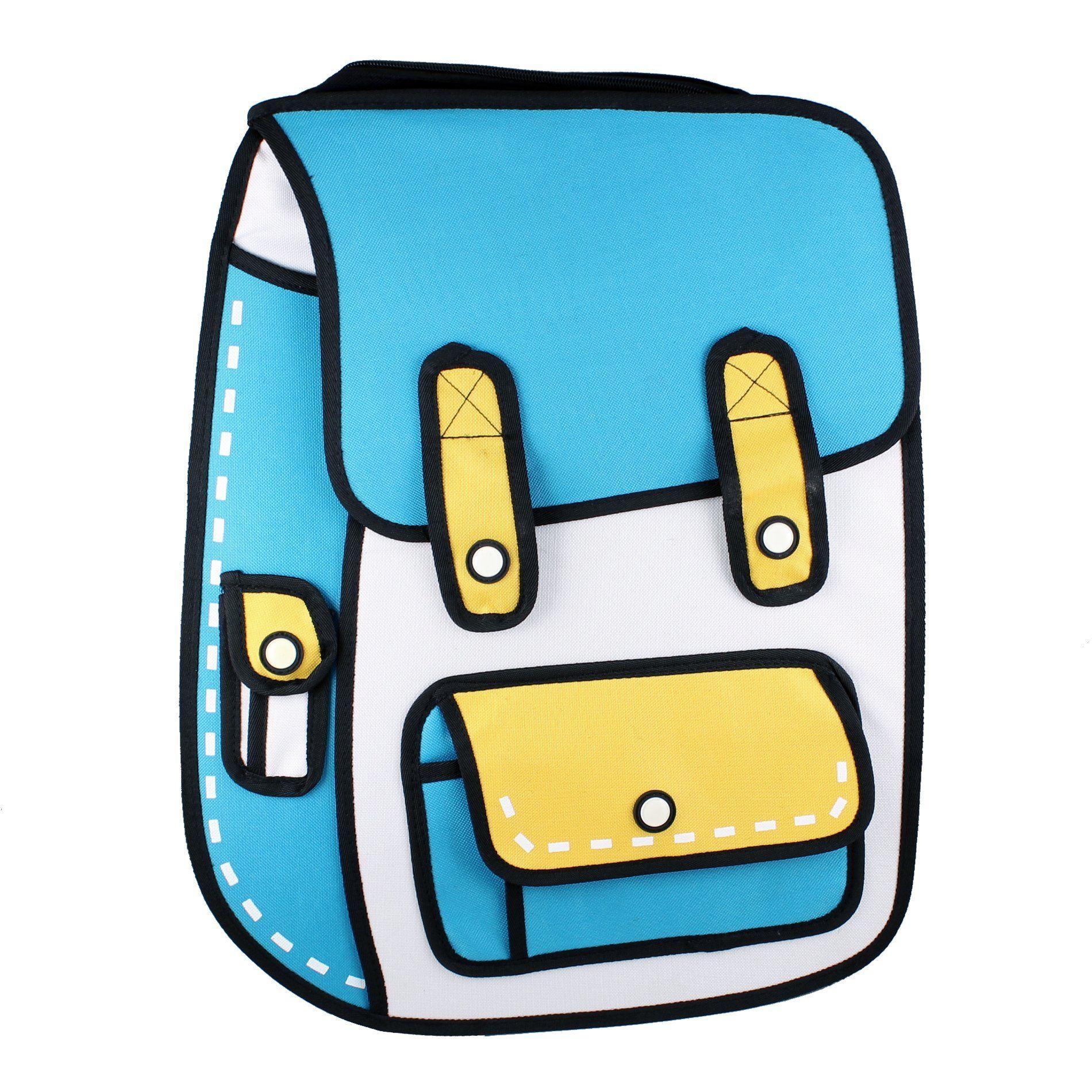 Get Blue Cartoon Handbag PNG