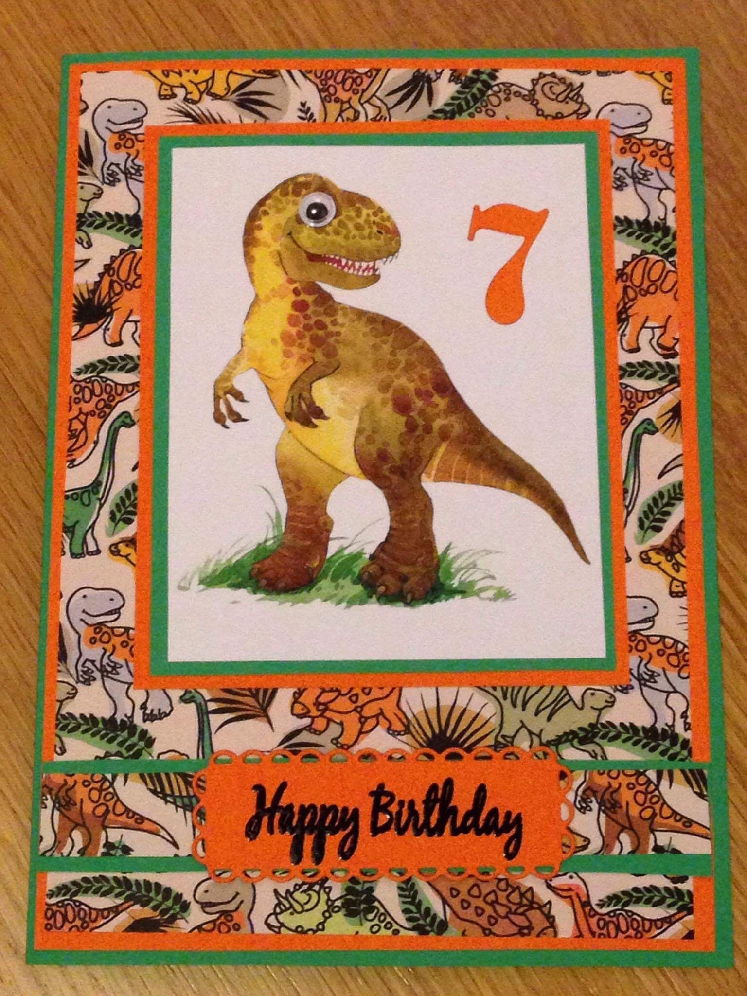 Dinosaur birthday card dinosaur birthday birthday cards