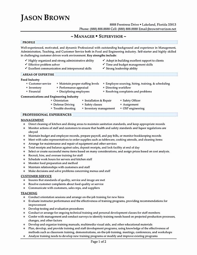 20 Food Service Worker Job Description Resume (With images