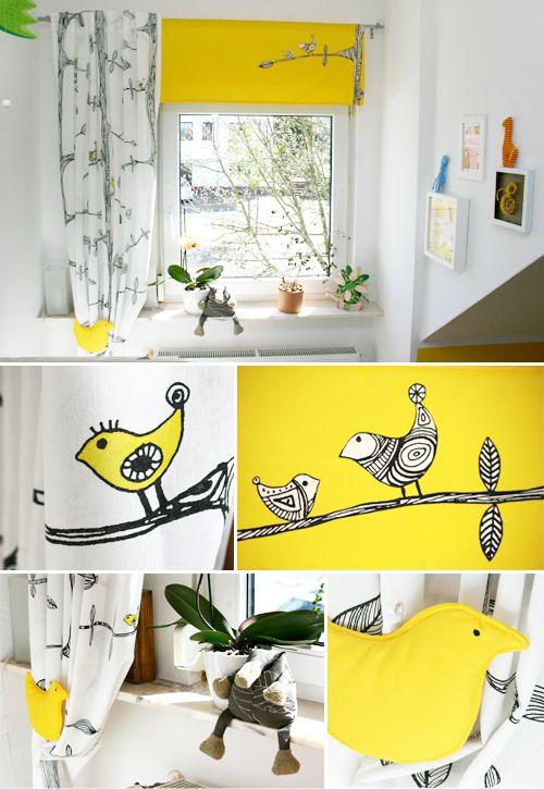 DIY, Kinderzimmer, Textilstift, Vliesofix, Vorhang, IKEA Hack, IKEA,