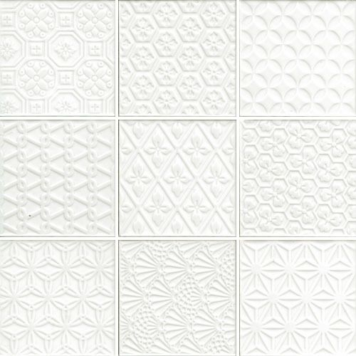 97mm X 97mm 300mm X 300mm Sheet Cotto Embossed White Mosaic Suitable For Walls And Features Australia Wide Delivery White Ceramic Tiles White Tiles Tiles