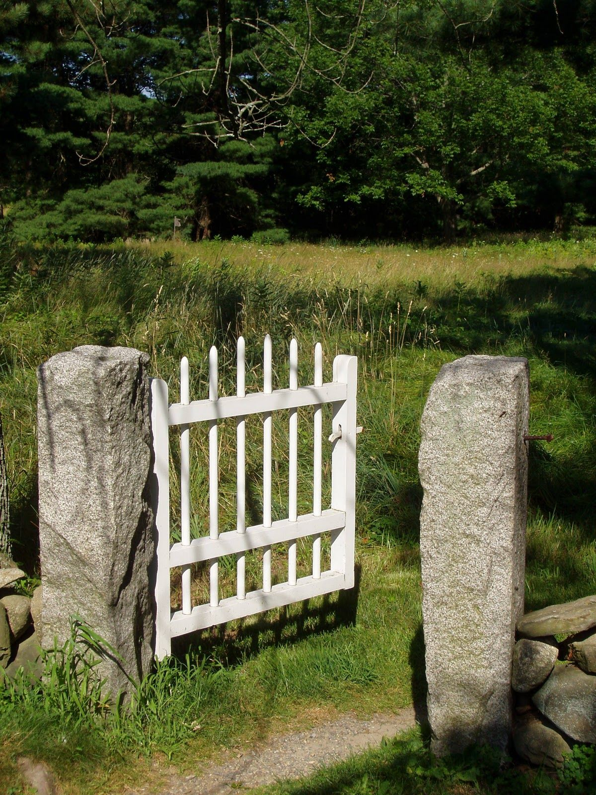 Love the granite posts backyard pinterest granite garden gate