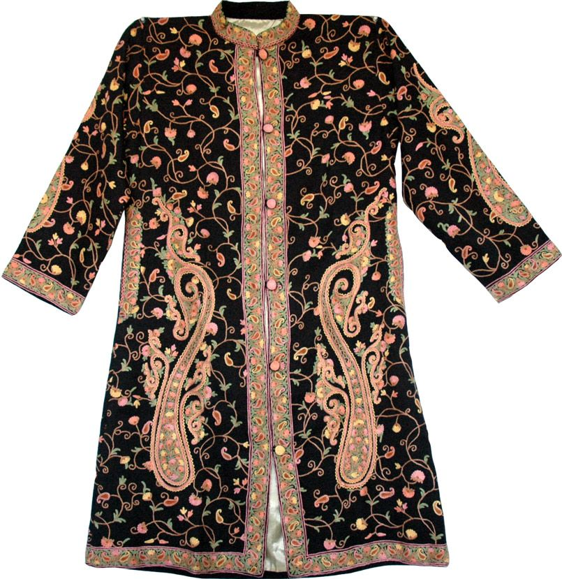 Embroidered Blazers for Women | Long Black Embroidered Jacket - Shop for  bags, skirts,