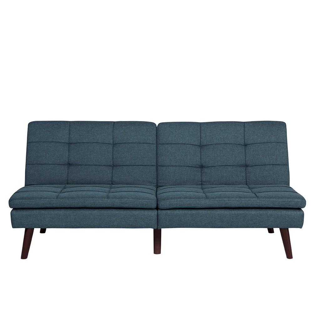 Best Premium Westbury Linen Pillowtop Futon Blue Dhp 400 x 300