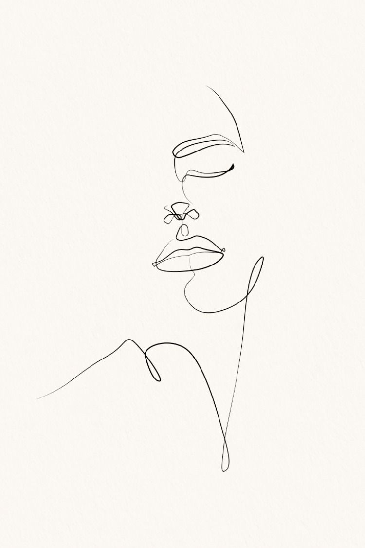 Elegant one line sketches line sketch line art drawings