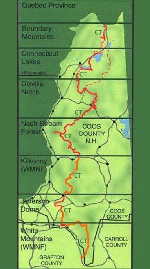 The Cohos Trail: Gateway to New Hampshire's North Country ... on forest park hiking trails map, mn state trails map, gateway to the west on map, kansas trails map, boulder co map, cockaponset state forest haddam map, gateway salt lake city, garfield county road map, twin cities bike map, lake phalen map, st. croix river map, gateway national recreation area map, iowa bike trails map, gateway trail browns creek trail, gateway colorado, gateway canyon map, gateway to hell,