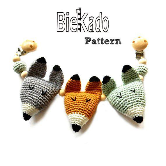 Crochet Pattern Fox Woodland Patterns Nursery Crochet Fox