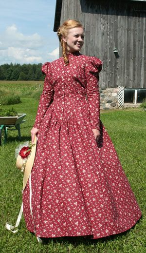 Calico Dress Reminding Me Of Little House On The Prairie