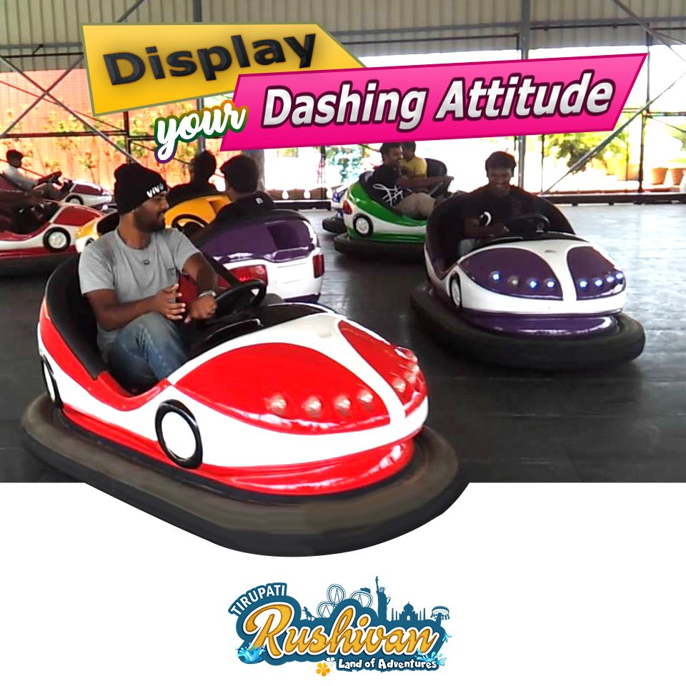 Enjoy Thrills Of Dashing Car Ride And Feel Like Racing Track Call Now On 99786 04288 Email Tirupatirushivan Gmail Adventure Park Amusement Park Water Park