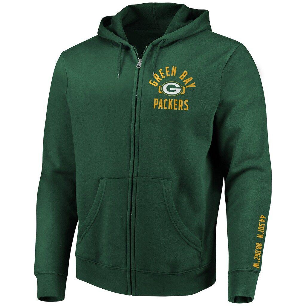 Oversizebig Tall Green Bay Packers Stencil Arch Full Zip Hoodie Men S Size 4xl Tall Dark Green Full Zip Hoodie Zip Hoodie Hoodies