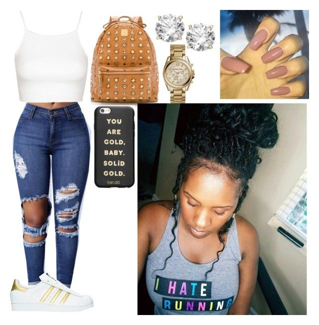 """""""Untitled #589"""" by queen-ayanna on Polyvore featuring Topshop, adidas, MCM, Michael Kors and ban.do"""