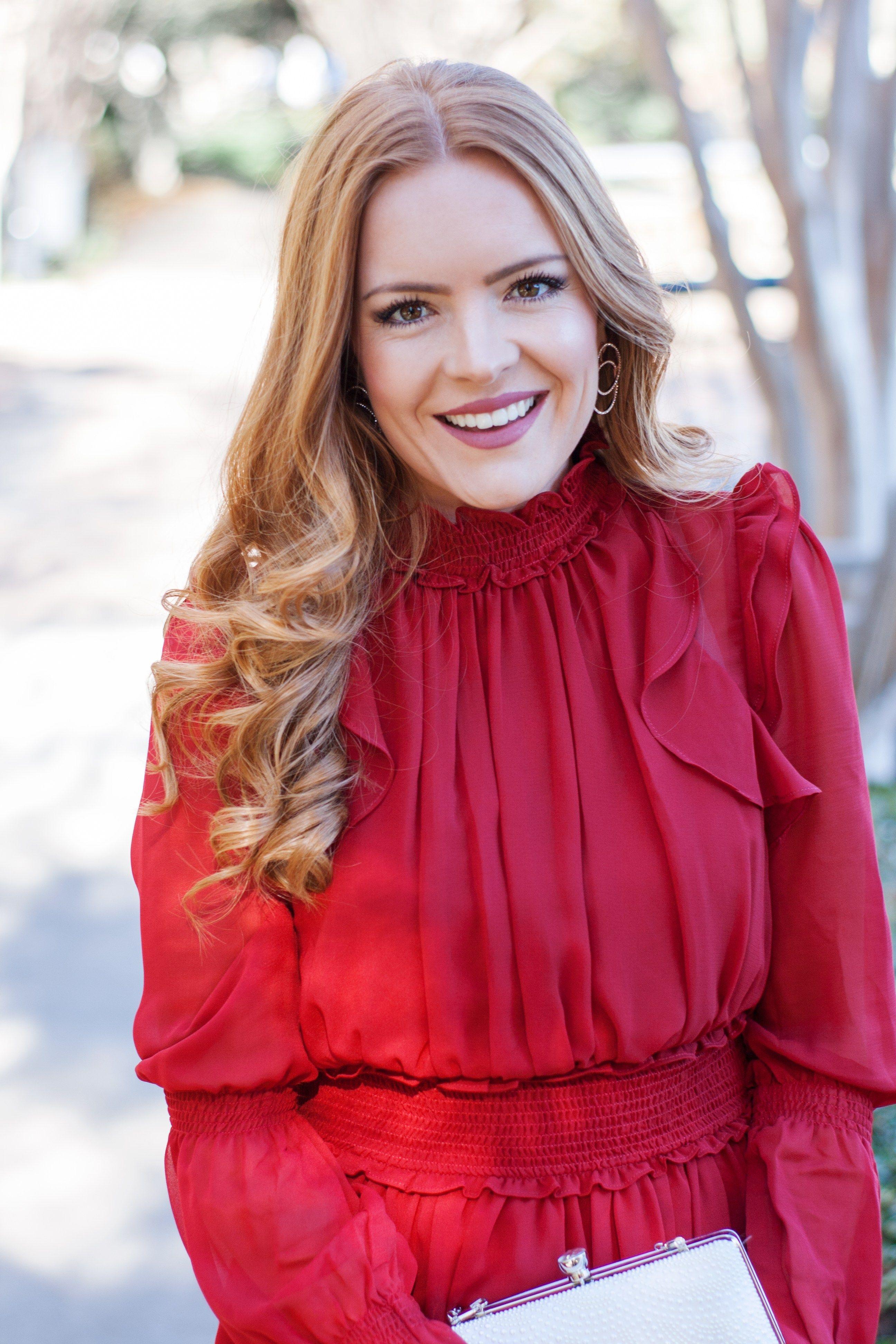 Fancy In Red Red ruffle dress, Fancy, Women