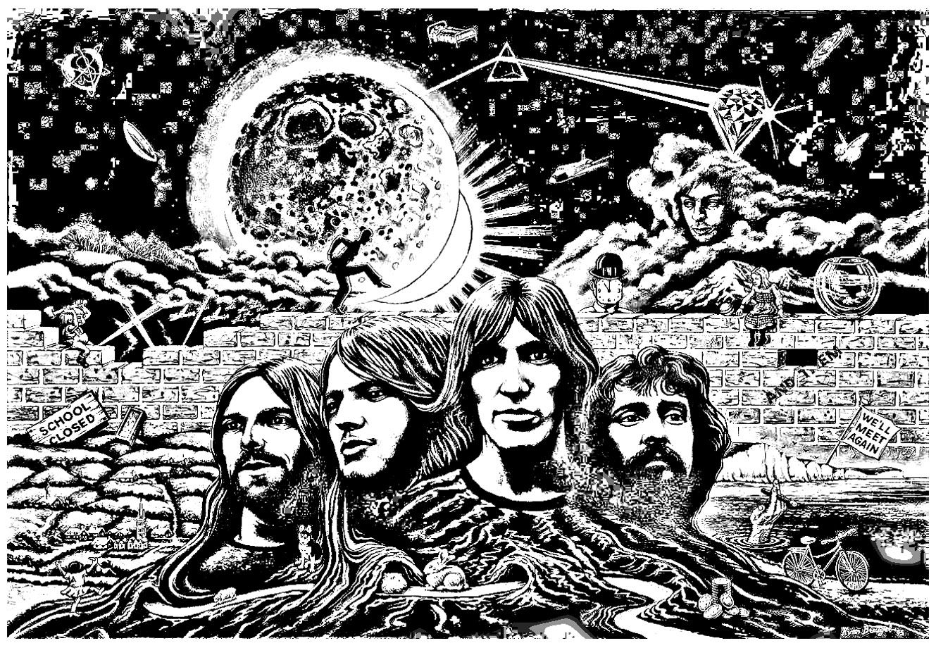 Big Abstract Coloring Pages : To print this free coloring page «coloring pink floyd psychedelism