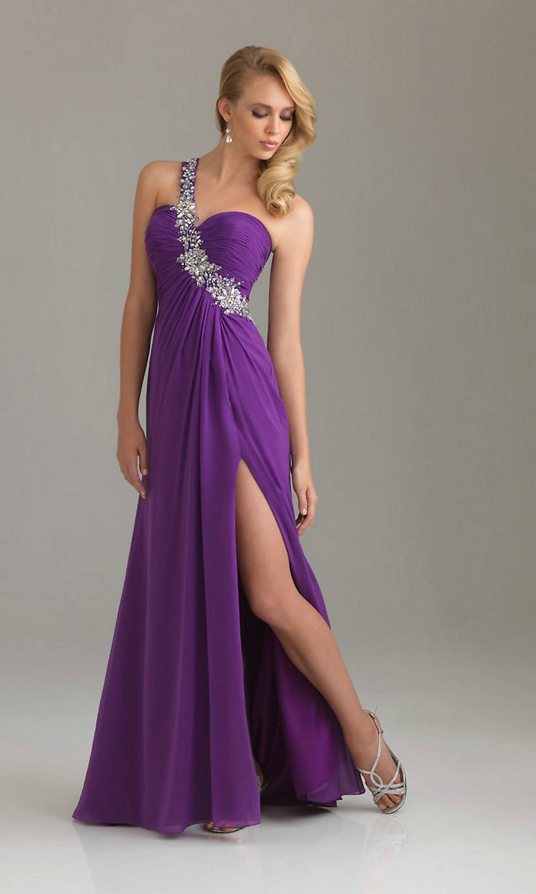 Long purple prom dress dress journal products pinterest prom