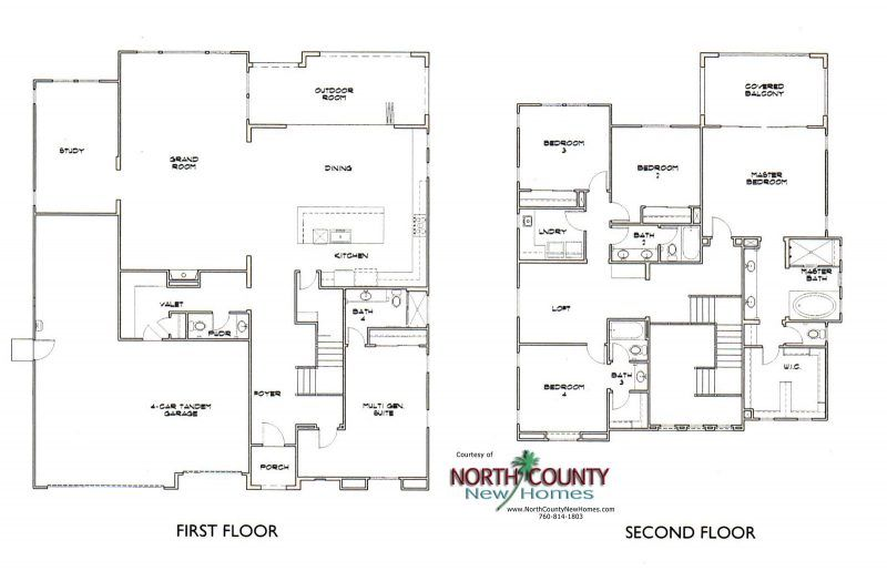 The Estates At Canyon Grove Floor Plans North County New Homes Floor Plans New Homes House Floor Plans
