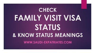 Family Visit Visa Status Online Visa Status Visiting