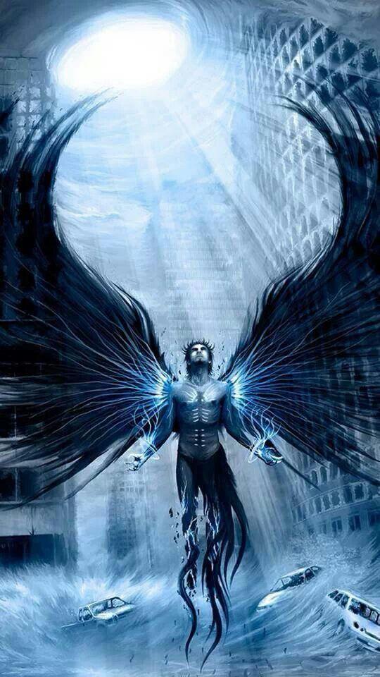 Black Wings Angel Wallpaper Dark Angel Wallpaper Conceptual