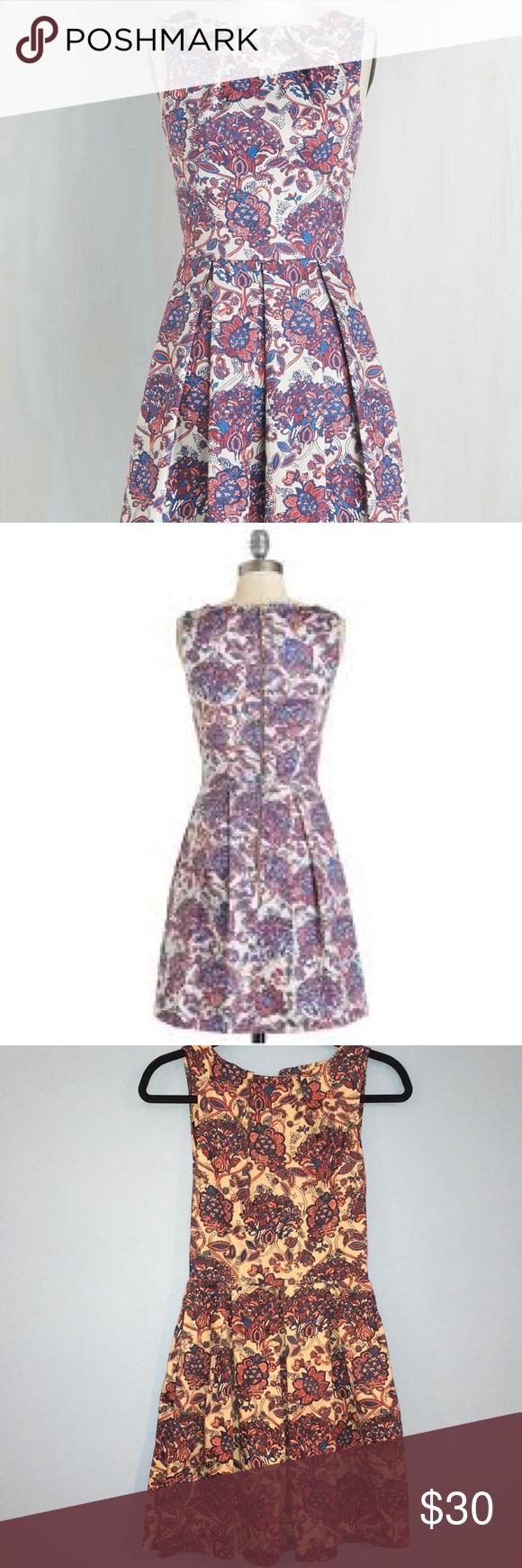 Closet London Luck be a lady dress in potpourri XS Closet