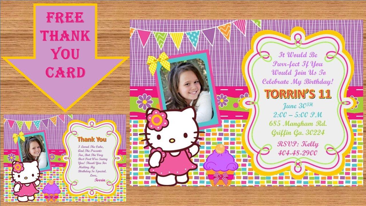 Hello Kitty Invitation, Hello Kitty Birthday, Hello Kitty Birthday Invitation, Hello Kitty Invite, Hello Kitty Party # Hello Kitty 00014 by kellylynn1973 on Etsy