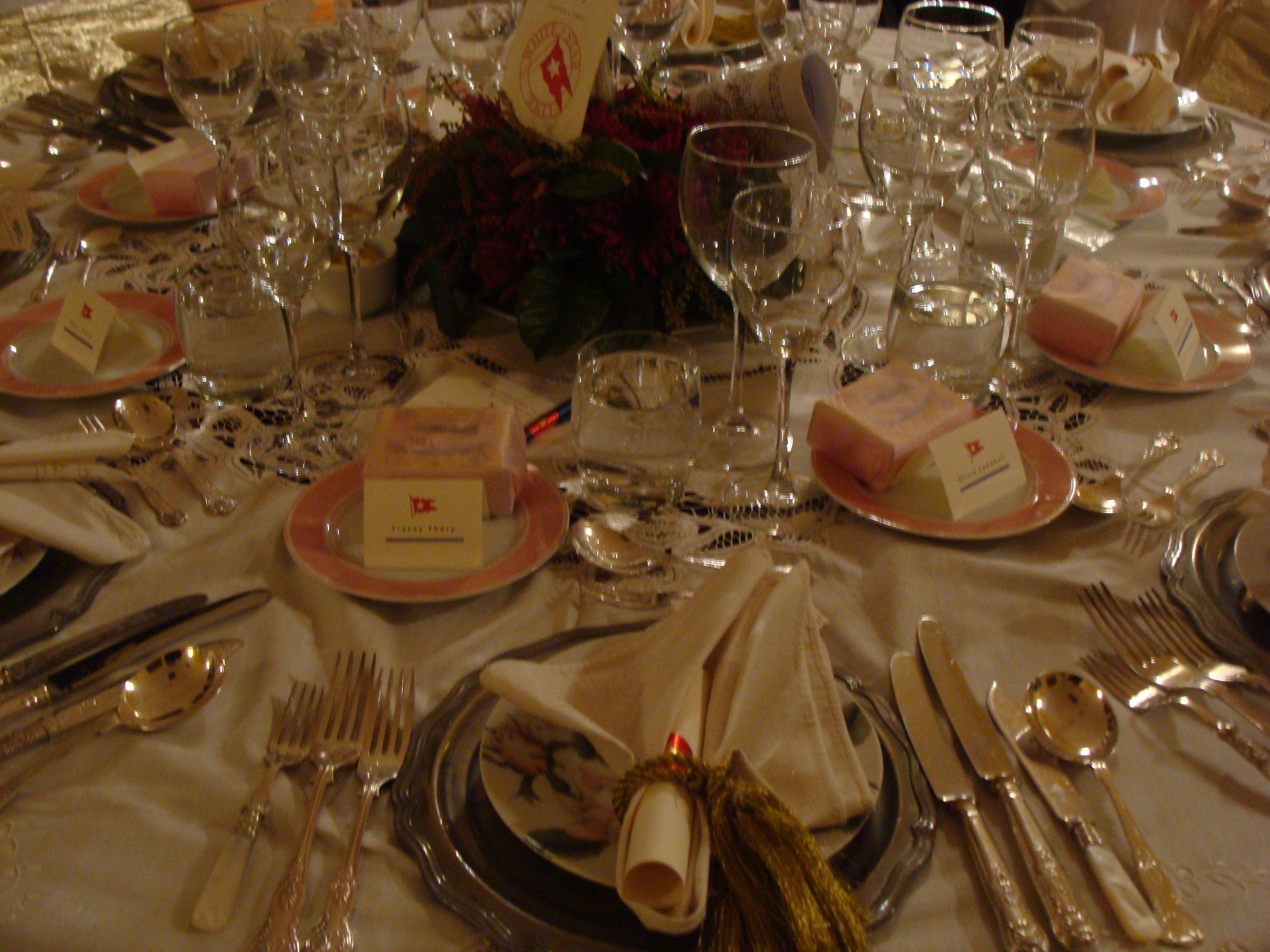 Cotter House Titanic Dinner Table Settings
