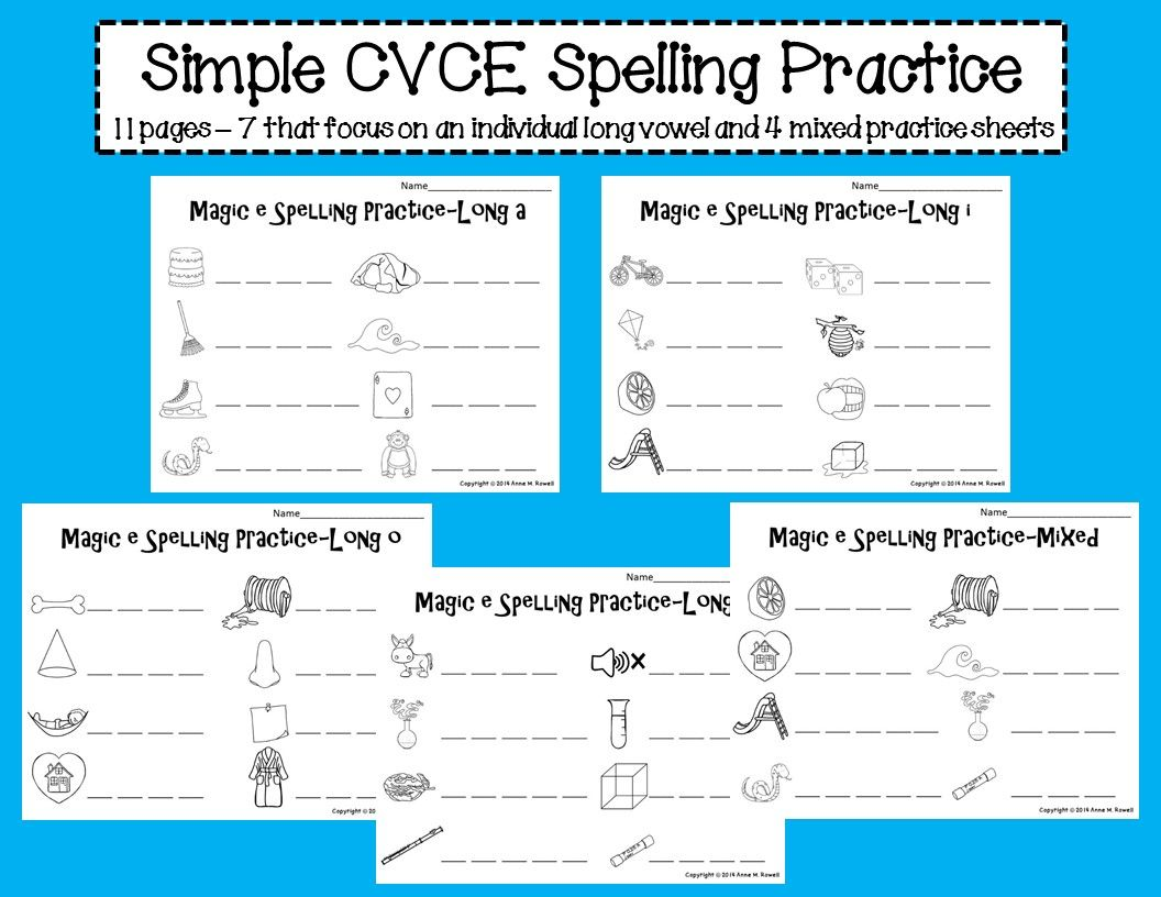 Simple Cvce Spelling Practice Sheets Magic E