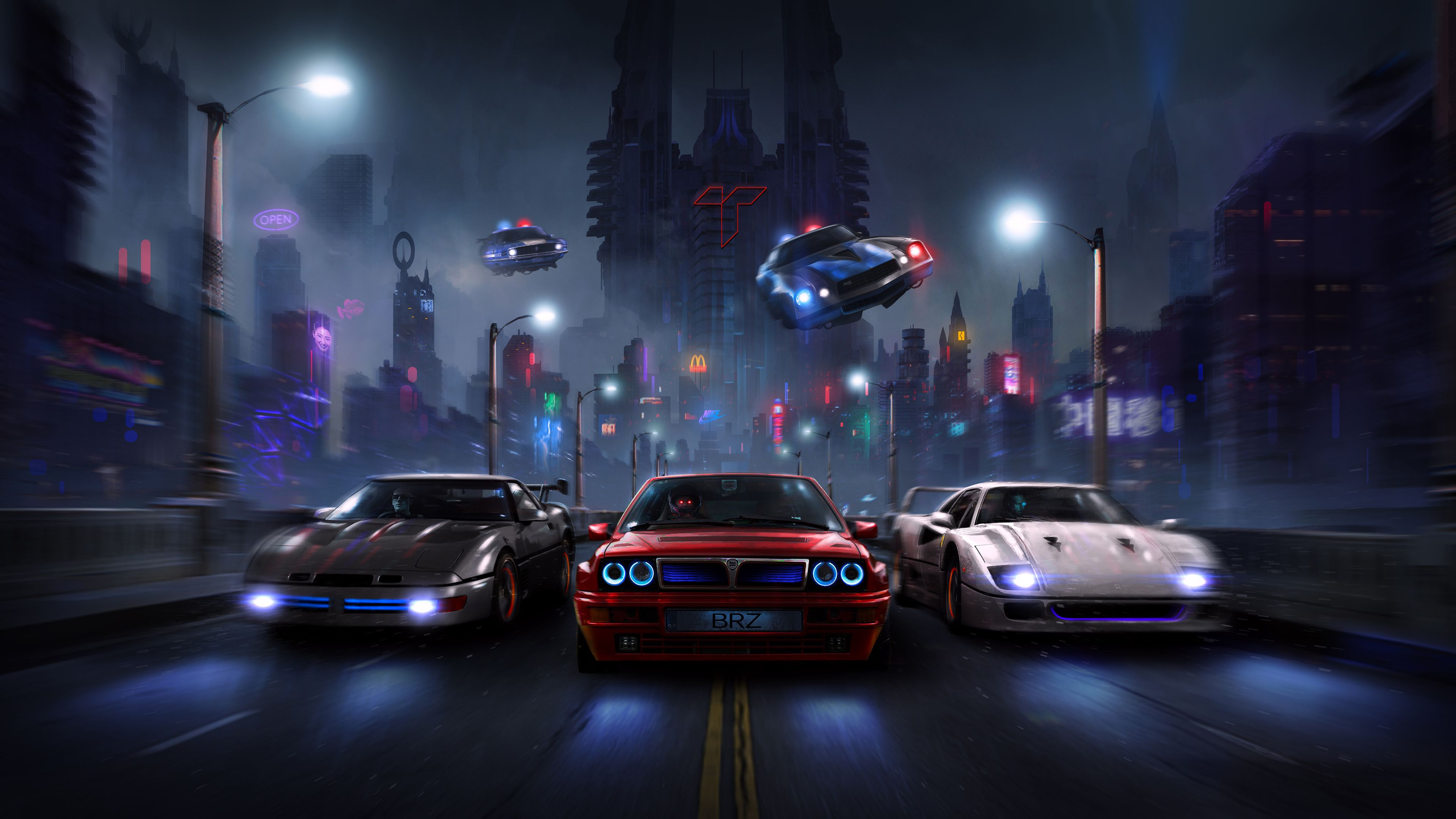 Racers Night Chase 4k Hd Wallpapers Digital Art Wallpapers Deviantart Wallpapers Cars Wallpapers Artwork Wallpapers A Car Wallpapers Art Wallpaper Artwork