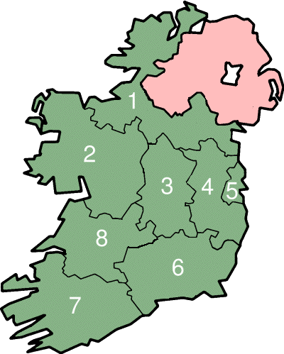 Regional Map Of Ireland.Regional Authorities In Ireland Wikipedia Places Celtic