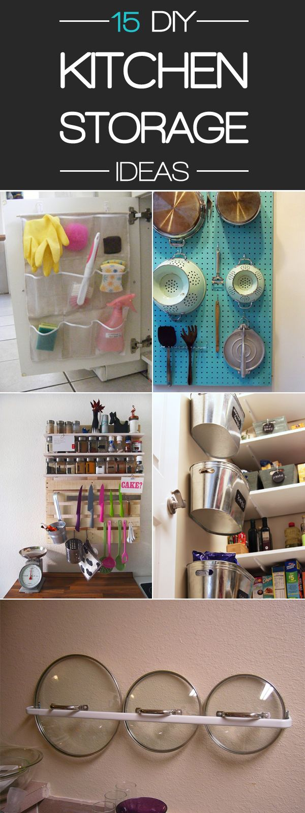 15 smart diy storage ideas to keep your kitchen organized on clever ideas for diy kitchen cabinet organization tips for organizers id=41841