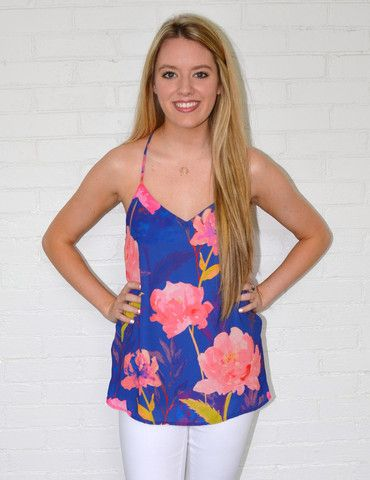 Flower Daze Tank Royal | Alta Moda