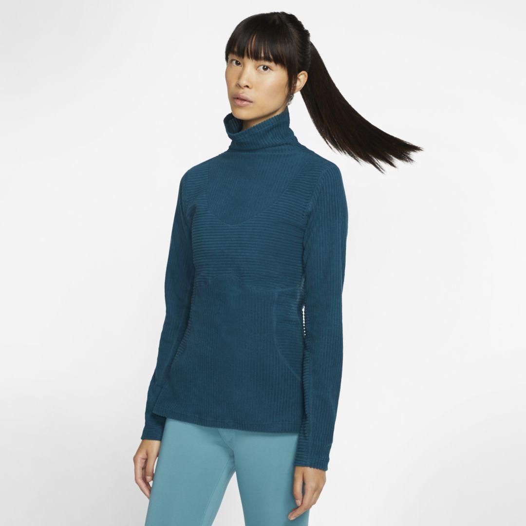 Nike Pro HyperWarm Damen-Veloursoberteil (Midnight Turquoise) #DamenVelourstop #Fitness Training wom...