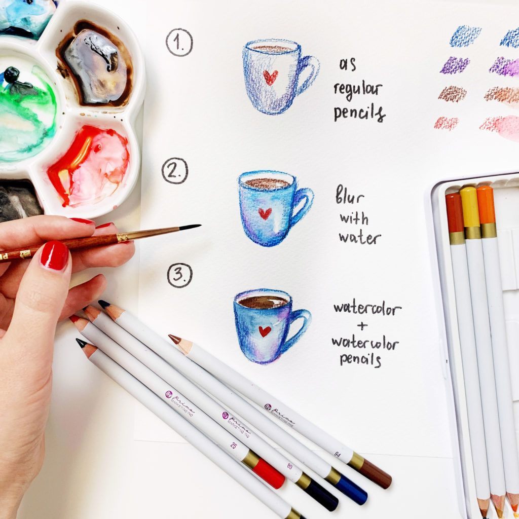 Guide how to use watercolor pencils in 2020 watercolor