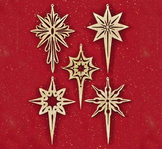 Shining Star Scroll Saw Ornaments | Advent--Hope/Prophecy ...