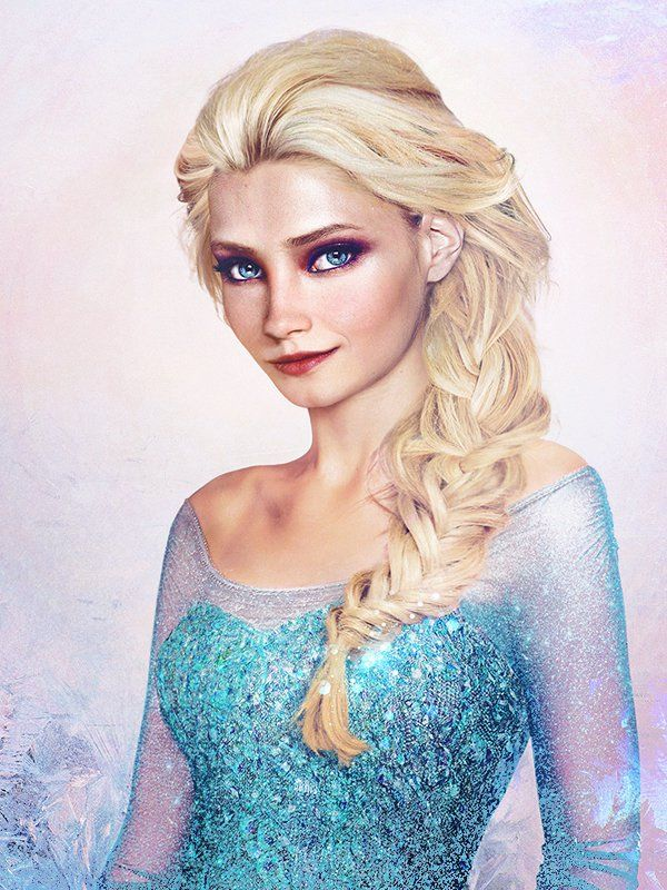 elsa_frozen - Jirka Väätäinen from Kuopio, Finland, what Disney characters might look like in real life.