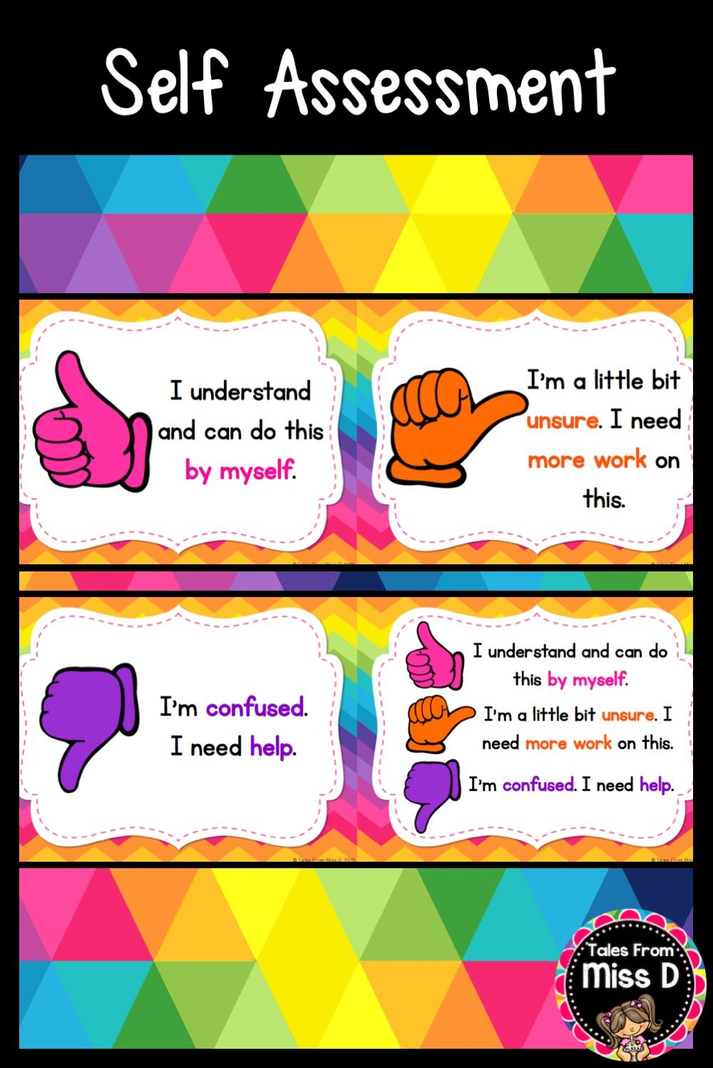 Self Assessment Posters (With images) Assessment