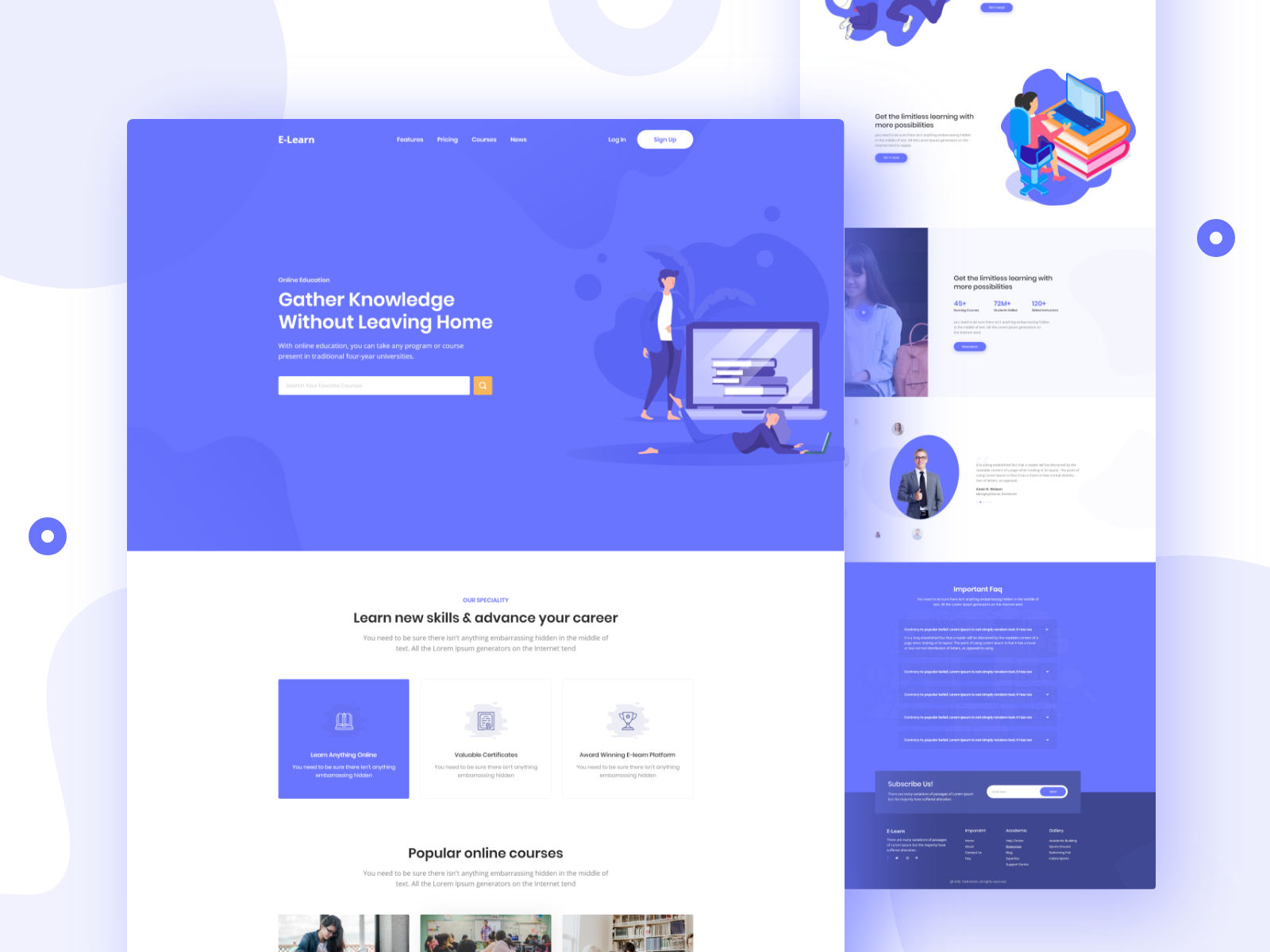 Education Landing Page With Images Landing Page Fun Website