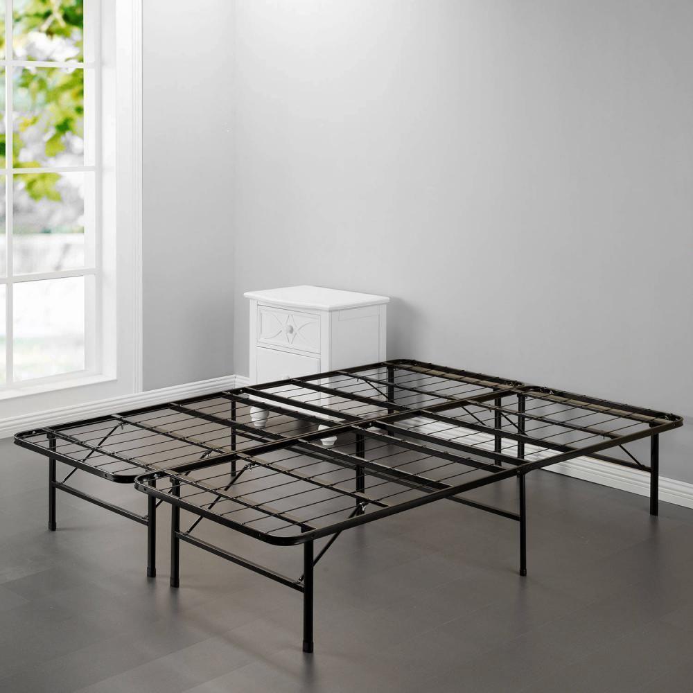 Platform Bed Frame Queen Box Spring Mattress Foundation Metal