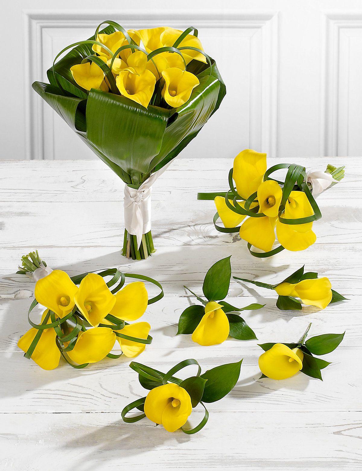 Yellow wedding calla lily collection 2 ms wedding bouquets yellow calla lily wedding flowers collection 2 ms izmirmasajfo