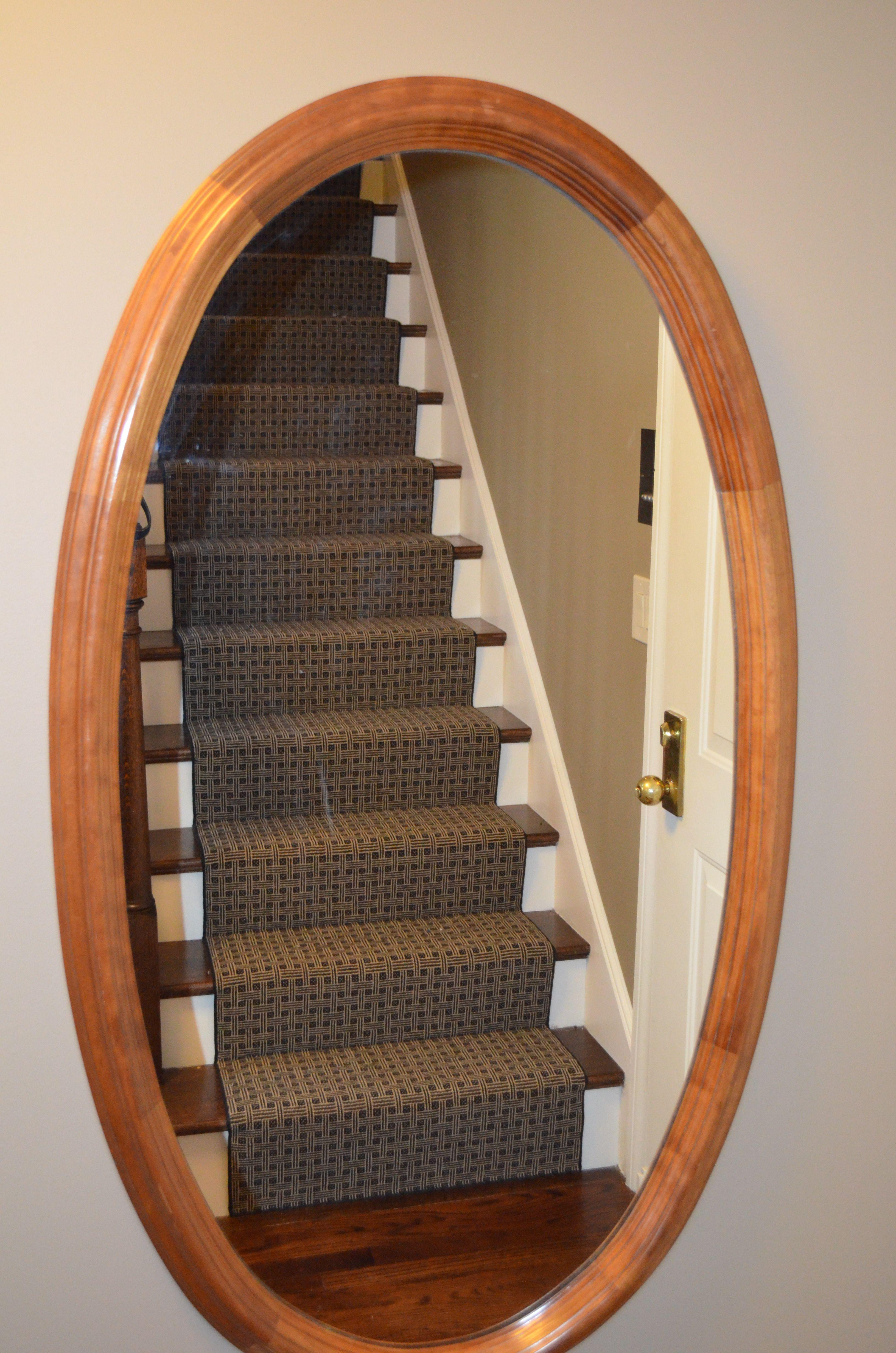Custom Stair Runner Made From Wool Carpet Remnant In Wellesley.  Www.thecarpetworkroom.net